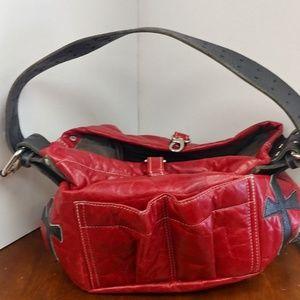 Tylie Malibu Red Leather Hand Bag
